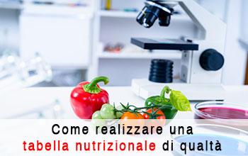 Come realizzare una tabella nutrizionale di qualità in laboratorio