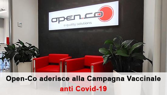 Open-Co aderisce alla campagna vaccinale anti Covid-19