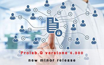 Nuova release 4.300 per Prolab.Q LIMS
